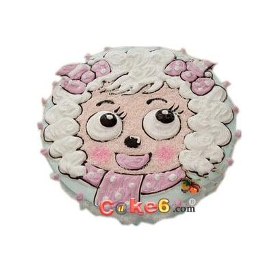 美羊羊,蛋糕美食,生日蛋糕,鲜奶蛋糕,|淄博卡特鲜花