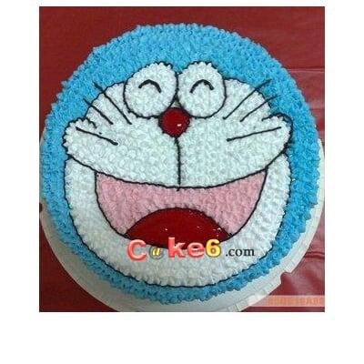 可爱机器猫,蛋糕美食,生日蛋糕,鲜奶蛋糕,|淄博卡特
